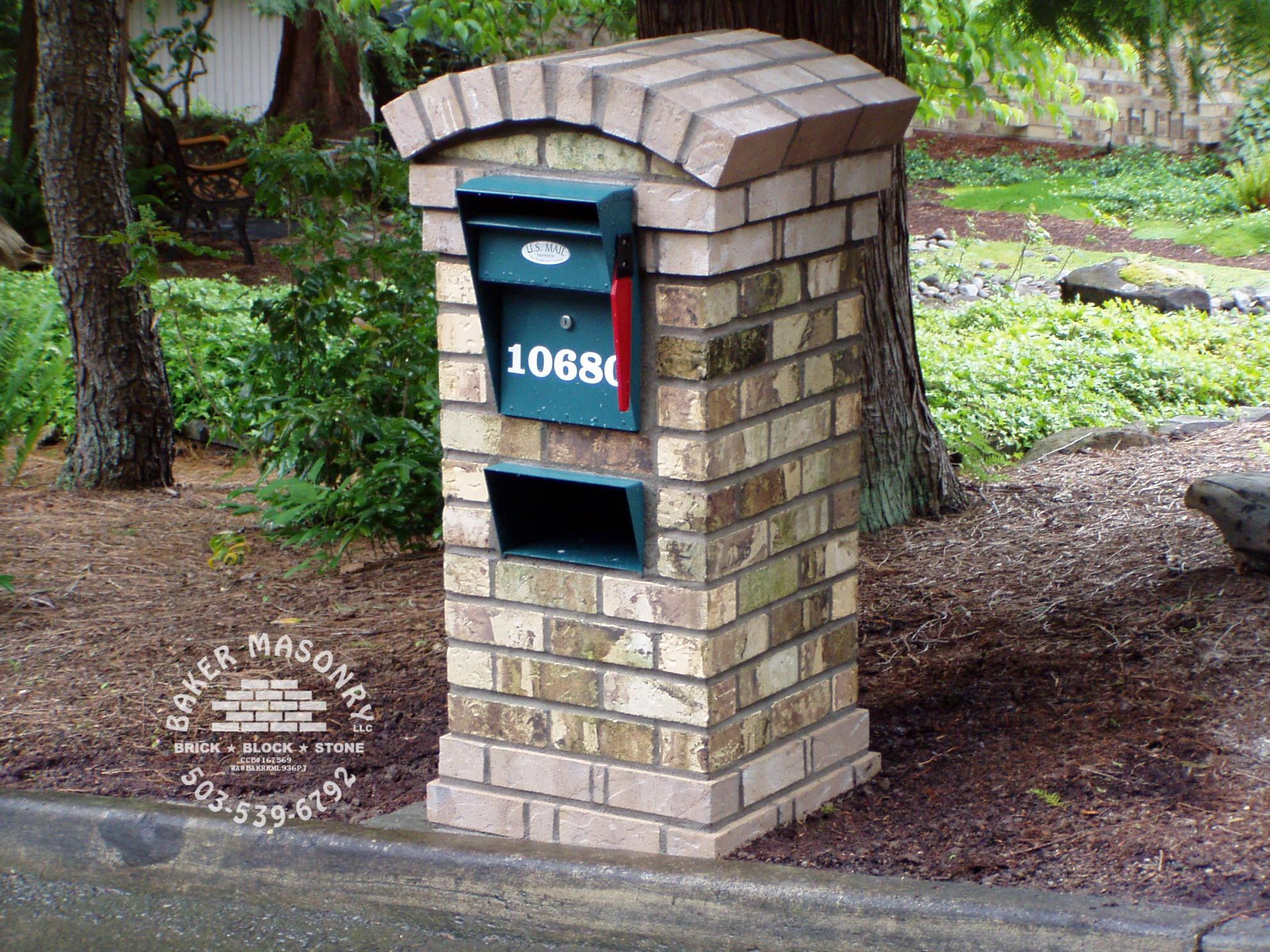 Stone mailboxes brick mailboxes baker masonry portland for Masonry ideas